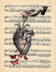 Untitled art finds pinterest heart illustration human heart this paints a perfect picture of how it really feels when you are making music ccuart Image collections