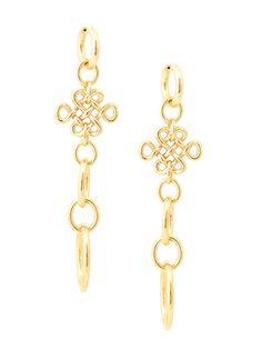 ***** H.Stern 18k Yellow Gold Diane von Furstenberg Love Knot Drop Earrings