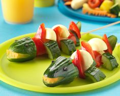Dinosaur Skewers Recipe | Kids, Party Recipes | Kitchen Goddess