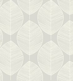 new arthouse opera retro leaf pattern leaves motif Hall Wallpaper, Green Wallpaper, Modern Wallpaper, Bathroom Wallpaper, Designer Wallpaper, Pattern Wallpaper, Silver Wallpaper, Neutral Wallpaper, Retro Tapet