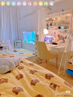 Room Design Bedroom, Room Ideas Bedroom, Home Room Design, Bedroom Decor, Army Room Decor, Study Room Decor, Cute Room Decor, Room Ideias, Pastel Room