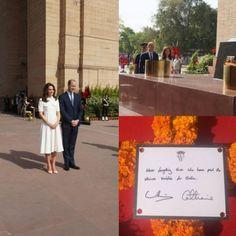 11 de abril:  O casal homenageou os soldados de regimentos indianos, que serviram na Primeira Guerra Mundial, com uma coroa de flores.