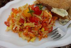 Zeleninový salát se zelím Bruschetta, Ethnic Recipes, Food, Essen, Meals, Yemek, Eten
