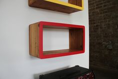 Floating booksandsuch shelves made with by GeneralPublicDesigns, $250.00