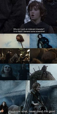 """Rickon's change of heart. 