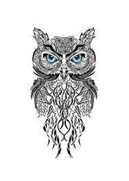 Image result for tribal owl tattoo designs