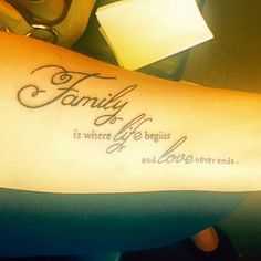 Tattoo Family is where life begins tattooidea