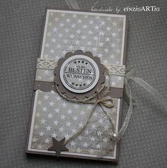 einzig-ART-ig - Banderole für Geschenke mit Jute/Organzaband variabel gestalten