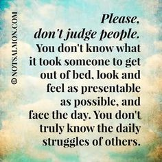 Please, don't judge..