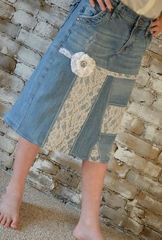 Cute denim skirt!