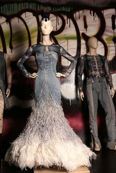 """A view of the """"The Fashion World of Jean Paul Gaultier: From the Sidewalk to the Catwalk"""" exhibition at the Brooklyn Museum. [Photo by Thomas Iannaccone]"""