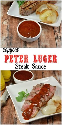 Copycat Peter Luger Steak Sauce- a tangy and zesty steak sauce that also works on chicken or sandwiches.