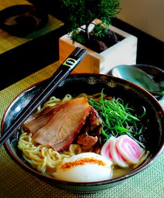 Charshumen, Roasted Pork Ramen Noodles Soup|チャーシューメン. Oh man, this makes me hungry! I love Japanese food.