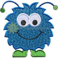 Happy Monster Applique Design