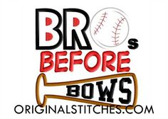 BROs BEFORE BOWS, Original Stitches - Embroidery and Applique Design Store