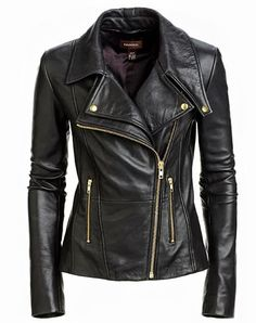 Cute and Casual Black Leather Jacket