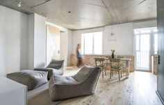 Apartamento com decoração clean e despojada na Rússia (Foto: Divulgação)