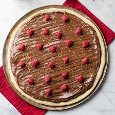 Nutella Raspberry Dessert  Pizza Pie
