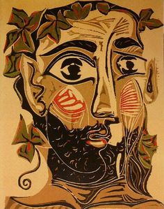 Homme barbu, linocut on panel, Museu Picasso, Barcelona, Spain Kunst Picasso, Pablo Picasso Drawings, Art Picasso, Picasso Paintings, Georges Braque, Paul Gauguin, Henri Matisse, Pablo Picasso Zeichnungen, Matisse Pinturas