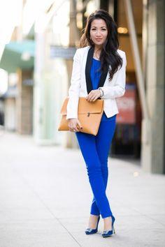 wendy's lookbook blue paradise :: tailored blazer & satin jewels