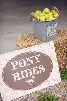 Vintage Pony Party with So Many REALLY CUTE Ideas via Kara's Party Ideas   Kara'sPartyIdeas.com #Vintage #Horse #Pony #Party #Ideas #Supplies (16)
