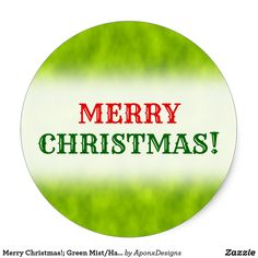 Green Mist/Haze/Fog-Like Pattern Classic Round Sticker created by AponxDesigns. Christmas Stickers, Mists, Merry Christmas, Green, Pattern, Merry Little Christmas, Patterns, Wish You Merry Christmas, Model