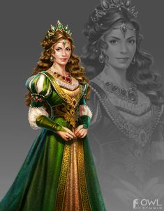 ArtStation - Characters Realism, OWL Studio Source by maaamayara ideas fantasy Fantasy Queen, Fantasy Princess, Princess Art, High Fantasy, Fantasy Girl, Medieval Princess, Female Character Concept, Female Character Inspiration, Fantasy Character Design