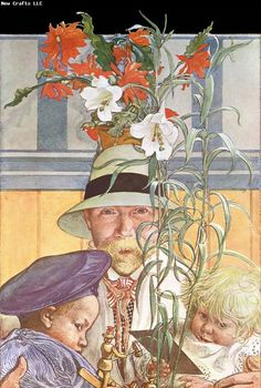 Carl Larsson Frontispiece for Andras Barn*