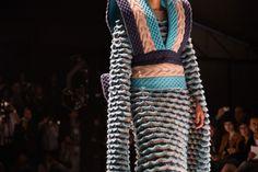 blue kimono in Jorge Salinas fashion show knitted