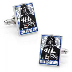 Star Wars Mens Join Us Or Die Propaganda Poster Cufflinks Collectible Gift Box
