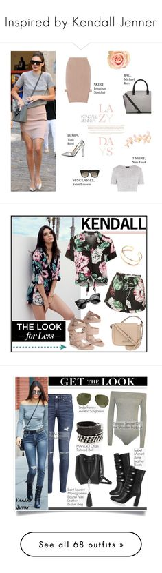 """Inspired by Kendall Jenner"" by yessyniarty ❤ liked on Polyvore featuring Jonathan Simkhai, Tom Ford, Michael Kors, Yves Saint Laurent, Topshop, Kendall + Kylie, Kenneth Cole, LookForLess, StreetStyle and kendalljenner"