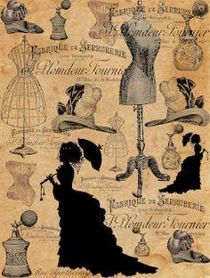Free printable Victorian Fashion Collage