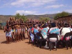 This is the Domba dance of the Venda tribe, where the virgins dance around naked.