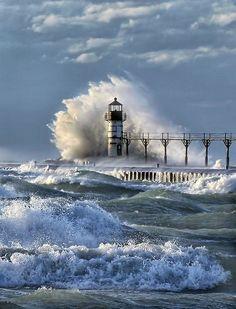 Lighthouse, St. Joseph, Michigan ~Vitaliy Sokol Photography