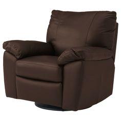 VRETA Swivel/rocking/reclining/armchair - Mjuk dark brown - IKEA