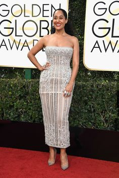 Tracee Ellis Ross in Zuhair Murad Couture @ the 2017 Golden Globe Awards