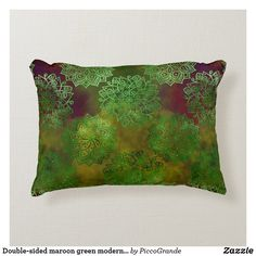 Double-sided maroon green modern batik style fruit accent pillow Soft Pillows, Accent Pillows, Throw Pillows, Hallway Console, Batik Pattern, Pillows Online, Home Decor Online, Aesthetic Room Decor, Soft Fabrics