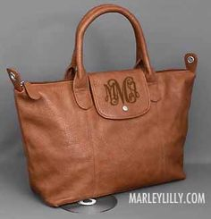 Monogrammed Brown Holly Cross Body Purse WANT!