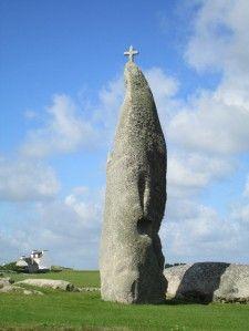 Menhir de Men Marz à Brignogan, Bretagne