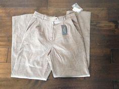 NWT VanHeusen Stretch Brown Womens Dress Pants Size 10 #VanHeusen #DressPants