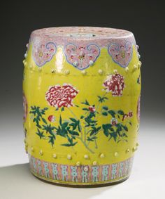 A FAMILLE-ROSE GARDEN SEAT<br>QING DYNASTY, 19TH CENTURY | lot | Sotheby's