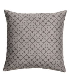 Check this out! Jacquard-weave cushion cover. Concealed zip at lower edge. Size 20 x 20 in. - Visit hm.com to see more.