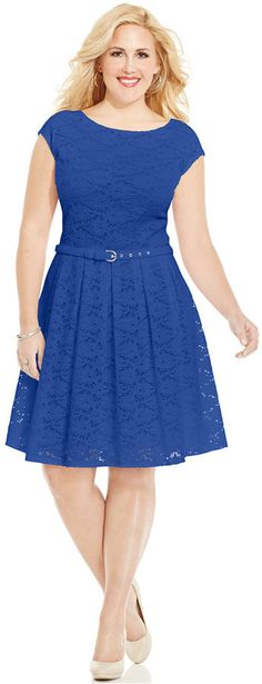 Alfani Plus Size Lace A-Line Dress