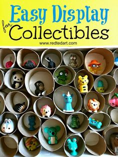 Toilet Paper Roll DIY Trinket Display - Red Ted Art's Blog