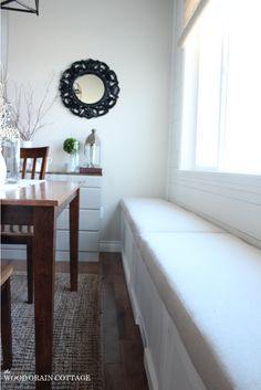 Breakfast Nook Bench Cushion | The Wood Grain Cottage