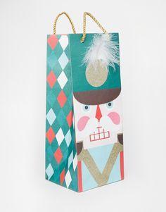 Meri Meri Nutcracker Christmas Bottle Gift Bag
