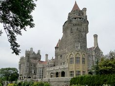 Canada's most haunted castle, the Casa Loma, a Gothic Revival style castle in Toronto, Ontario, Canada, built between 1911 and 1914, designed by E. J. Lennox