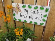 a garden sign at Back Alley Gardens, Gearheart Oregon