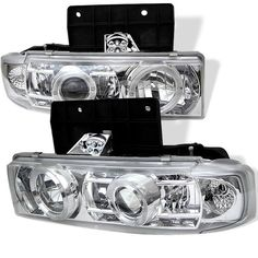 ( Spyder ) Chevy Astro 95-05 / GMC Safari 95-05 Projector Headlights - LED Halo - Chrome - High 9005 (Not Included) - Low 9006 (Not Included)
