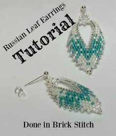 TUTORIAL, Russian Leaf Earrings done in brick stitch. From BeadAndBowtique on Etsy. $7.50